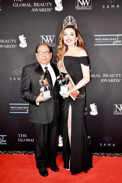 Shree Saini Recognized at Global Beauty Awards