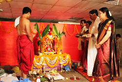 UAE AMCHIGELE CELEBRATED 'SHARADA PUJA' AT KARAMA CENTRE, DUBAI