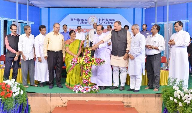 Diamond Jubilee celebrations inaugurated at St Philomena College, Puttur
