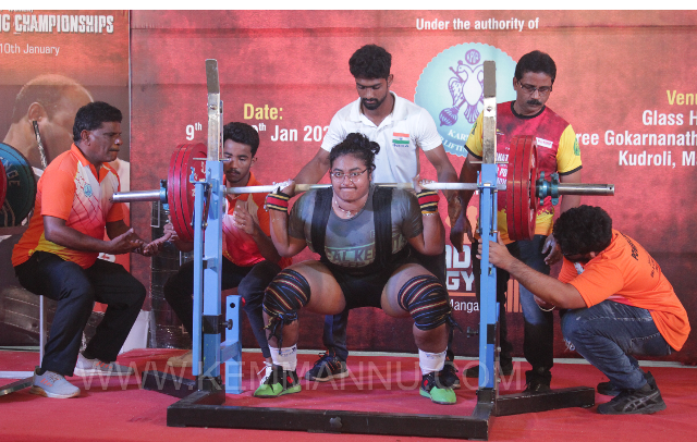 Udupi: Prathiksha Shetty, Kemmannu wins Gold Medal in Senior State Power-lifting championship 2021 - 3 New State Records.