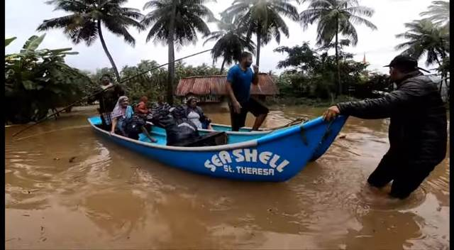 Udupi Floods: Many helped to rescue and shift at Kemmannu Grama Panchyat Vicinity yesterday.