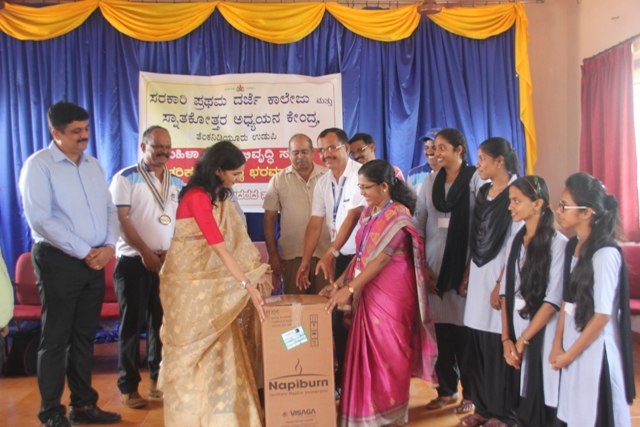 Rotary District Governor Visits Kallianpur RC, Inaugurates Bus Stop- Hands over Incernators to Govt College, Tenkanidiyur.