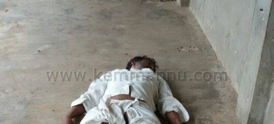 Man colapsed and died inside Kallianpur, Santhekatte Market.