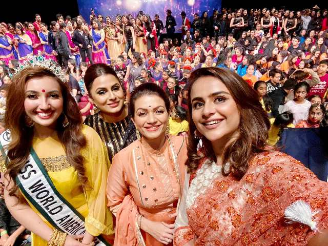 Miss World America Washington Shree Saini emceed east coast's largest dance show