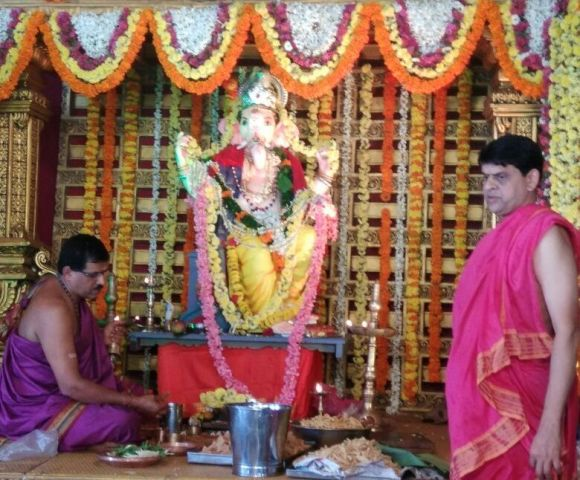31st Sarvajanik Ganeshotsava Idol installed at Santhekatte, Kallianpur with devotion and unity