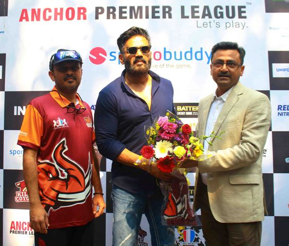 Suniel Shetty attends the toss ceremony of the Anchor Premier League,