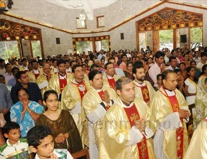 Feast of the Scapular celebrated Carmel Hill, Mangalore