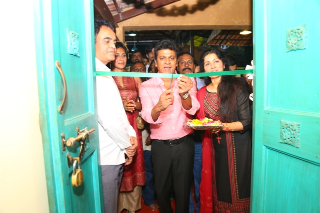Hatrick star Dr. Shivaraj Kumar Inaugurated Exclusive Antigravity Fitness center in Malleshwaram .