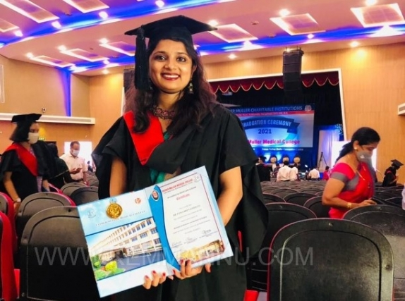 Udupi/Sasthan: Dr. Tania Brena D'Souza conferred with MBBS from Fr. Mullers, Mangalore.