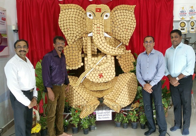Unique 'Biscuit Ganesha' attracts people during festive season