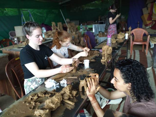 Clay workshop for Manchester university students- by Venki Palimaru.