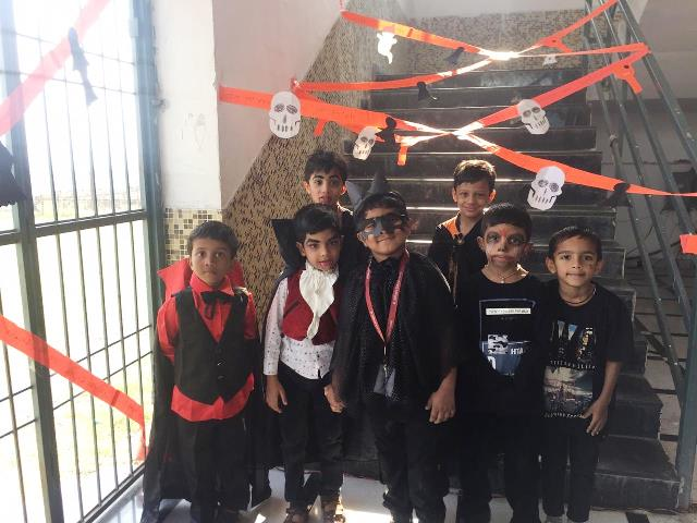 World Halloween Day celebrated by students from St. Wilfred's School