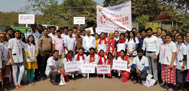 Cancer awareness drive by Ajeenkya D Y Patil University