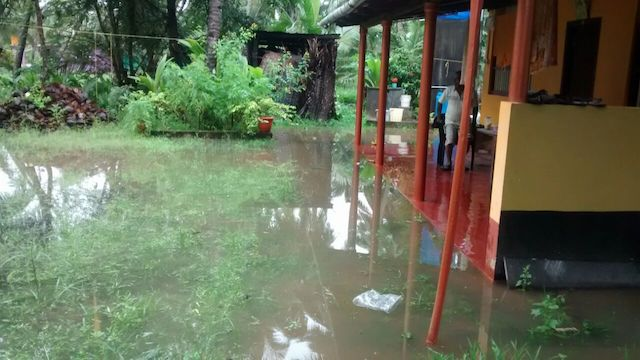Heavy rainfall damage houses in Udupi
