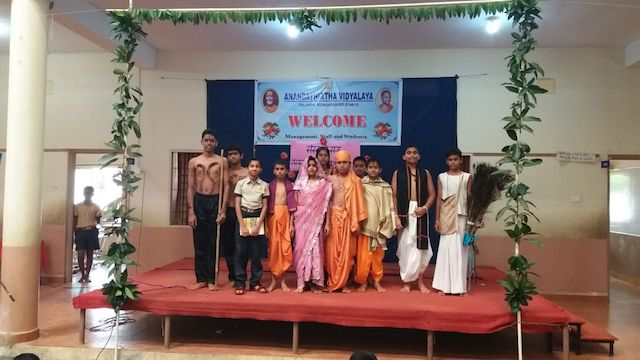 Sanskrit Day Celebrated at Anandathirtha Vidyalaya.