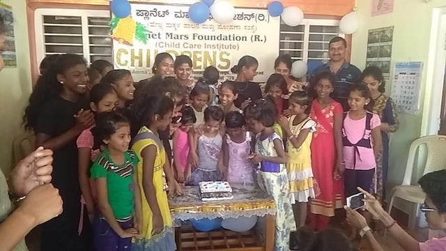 Danvanthri nursing college santhekatte, celebrated children's day at Planet Mars