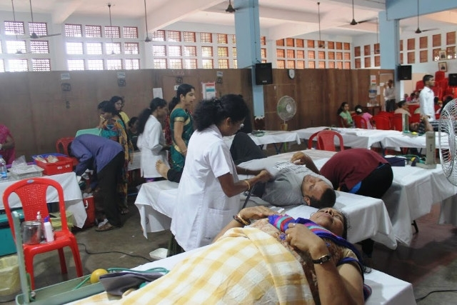 Voluntarily Blood Donation Camp held at Mount Rosary Church, Santhekatte, Kallianpur