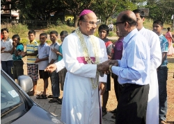 Udupi: Bishop Dr. Jerald Isaac Lobo Felicitated at Pangla Parish.