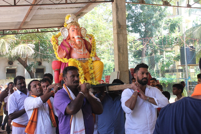 29th Thonse Sarvajanika Ganeshsova idol installed.