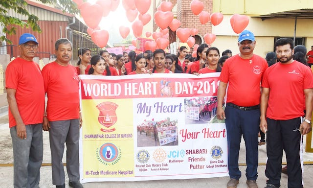 World heart day walkathon by Rotary, Kallianpur
