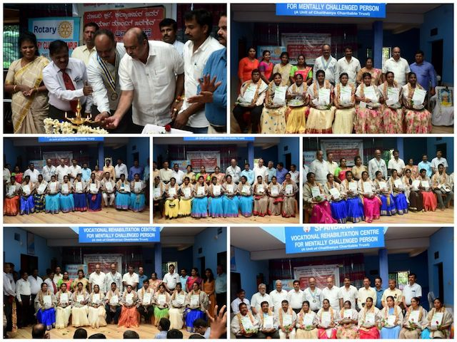 Udupi: Teacher's of Mentally Challenged children felicitated on Teachers day by Rotary.