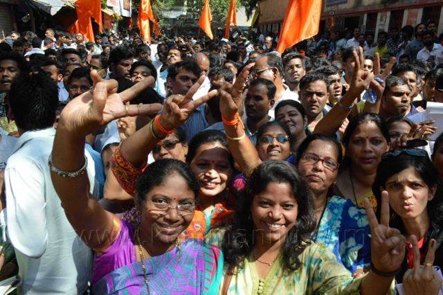 BJP sweeps Maharashtra, trails Sena in Mumbai