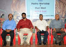Konkani Bhasha Mandal Maharashtra organized a workshop on Konkani poetry and a poets.