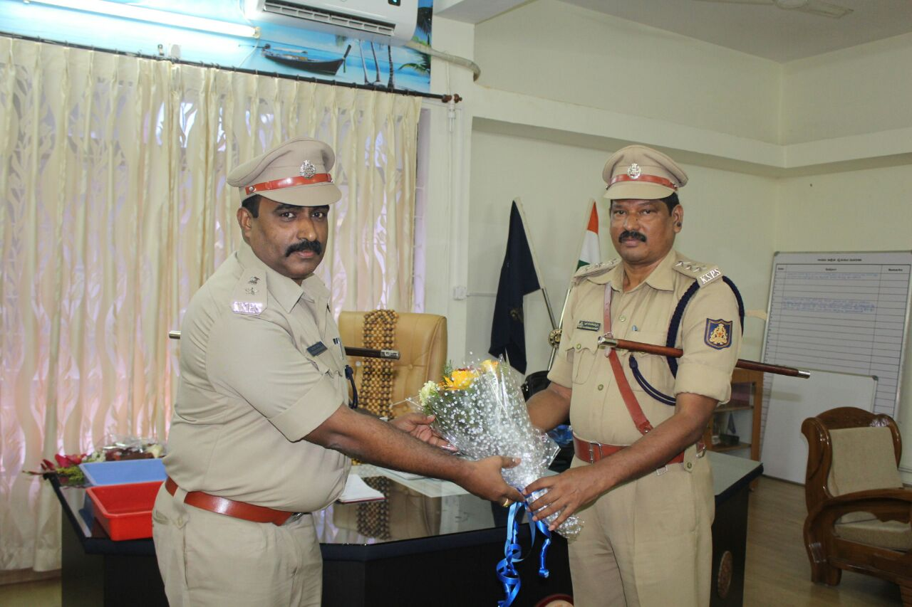 Kumarachandra IPS took over charge as Addl. Superintendent of Udupi district