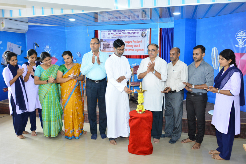 Planning Forum of PG Department of Economics inaugurated at SPC Puttur