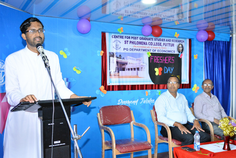 Fresher's Day held at PG Department of Economics of SPC Puttur