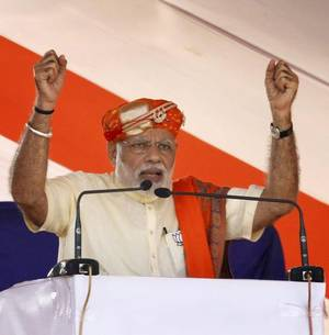 Pakistan trying to fix Gujarat polls: Modi