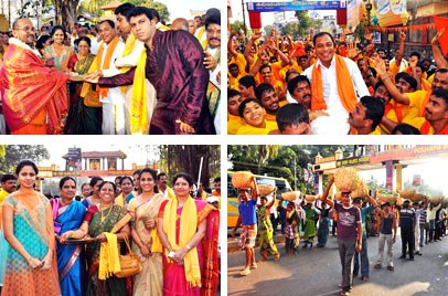 Udupi:Colourful 'Hore Kanike' Procession Ushers in Hotel Kediyoor Silver Jubilee and Silver Jubilee Celebrations Inaugurated...