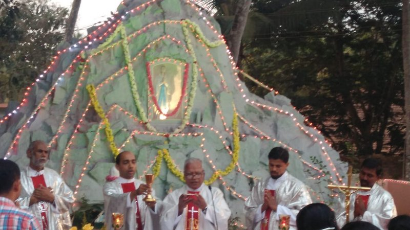Our Lady of Lourdes feast observed at Milagres Cathedral, Kallianpur