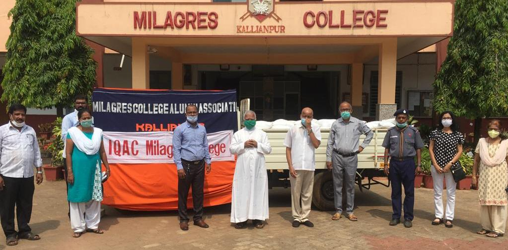 Rice Distribution Programme at Milagres College, Kallianpur