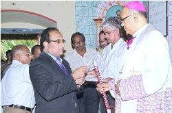 Mangalore Bishop's Pastoral visit to Mount Rosary, Kallianupur