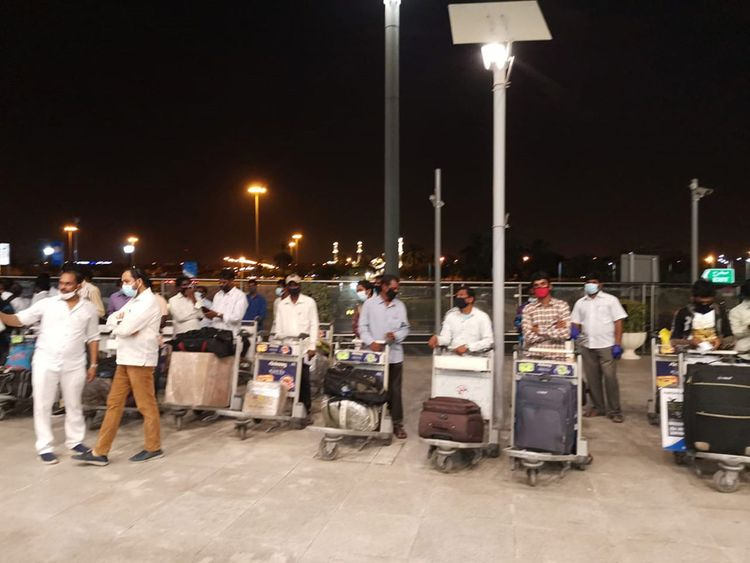 New batch of 40 stranded Indian workers flies home from Sharjah