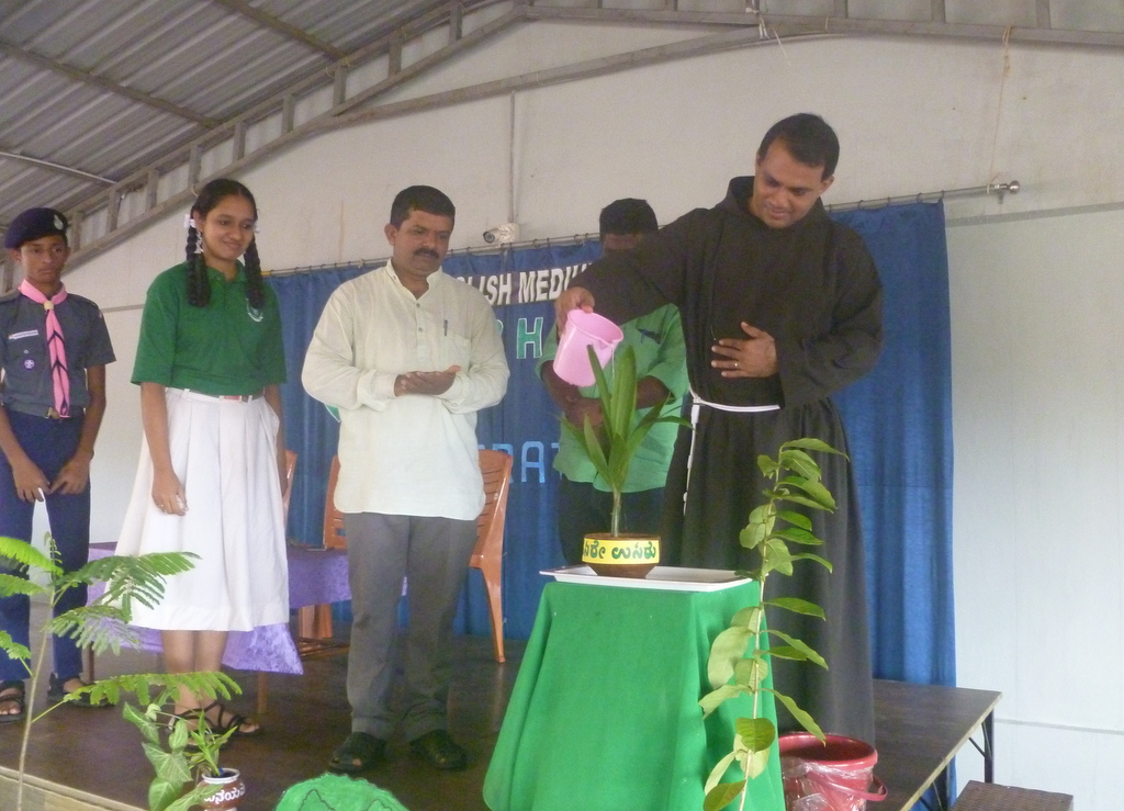 Vanamahotsava observed at Nirmala Eng. Med. School, Brahmavar