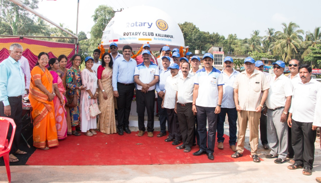 Santhekatte Kallianpur Bus Stop by Rotary Kallianpur inaugurated at NH