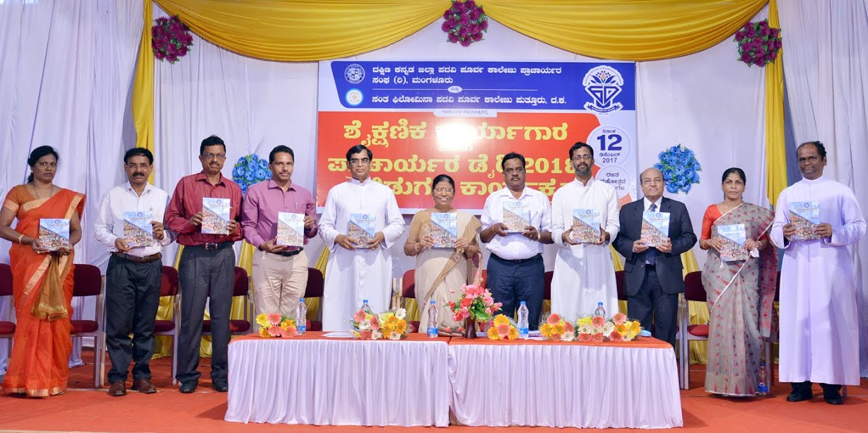 Academic Workshop and Release of Principal's dairy 2018 held at St Philomena PU College, Puttur