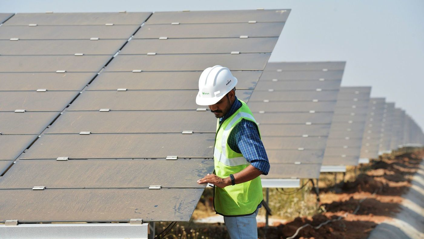 The biggest solar parks in the world are now being built in India.