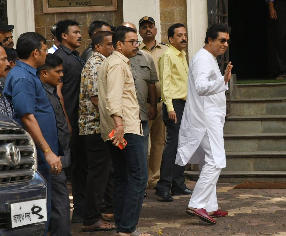 Raj Thackeray reaches ED office with family for questioning