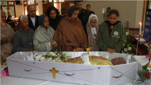 Rev Fr Raymond Menezes Funeral Photos.