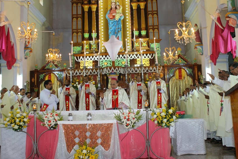 The Blessings of Holy Oils & Chrism mass held at Milagres Cathedral