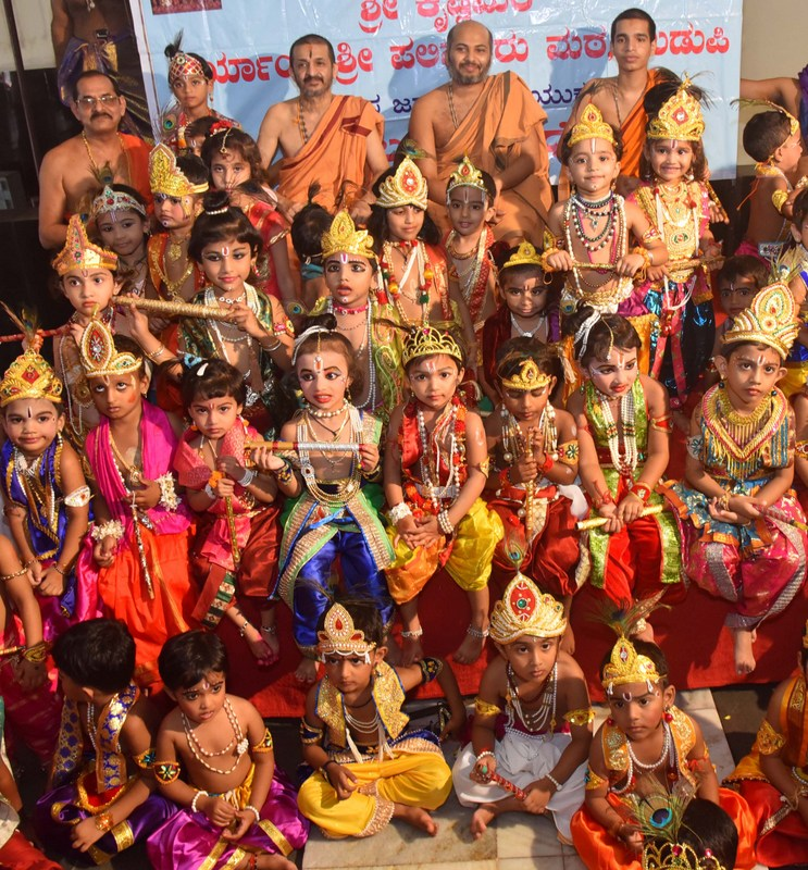 Balakrishna Fancy dress competition held at Sri Krishna Temple for children