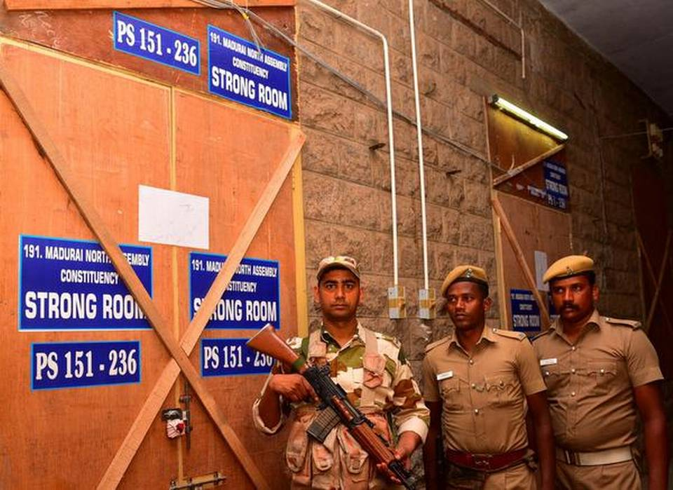 Four suspended for entering EVM strong room in Madurai