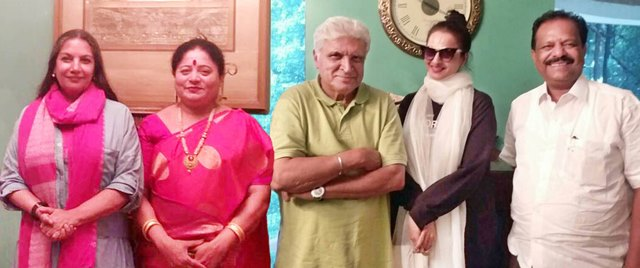 Shridhar Poojary Lonavala Meet Bollywood Actress Rekha, Shabana Azmi, Director / MP Javedh Akhtar