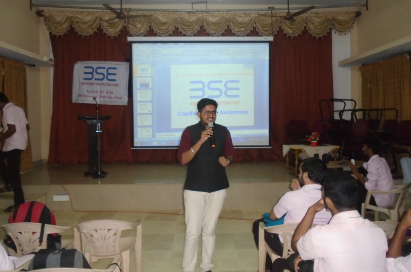 Awareness program on stock exchange at Milagres College, Kallianpur
