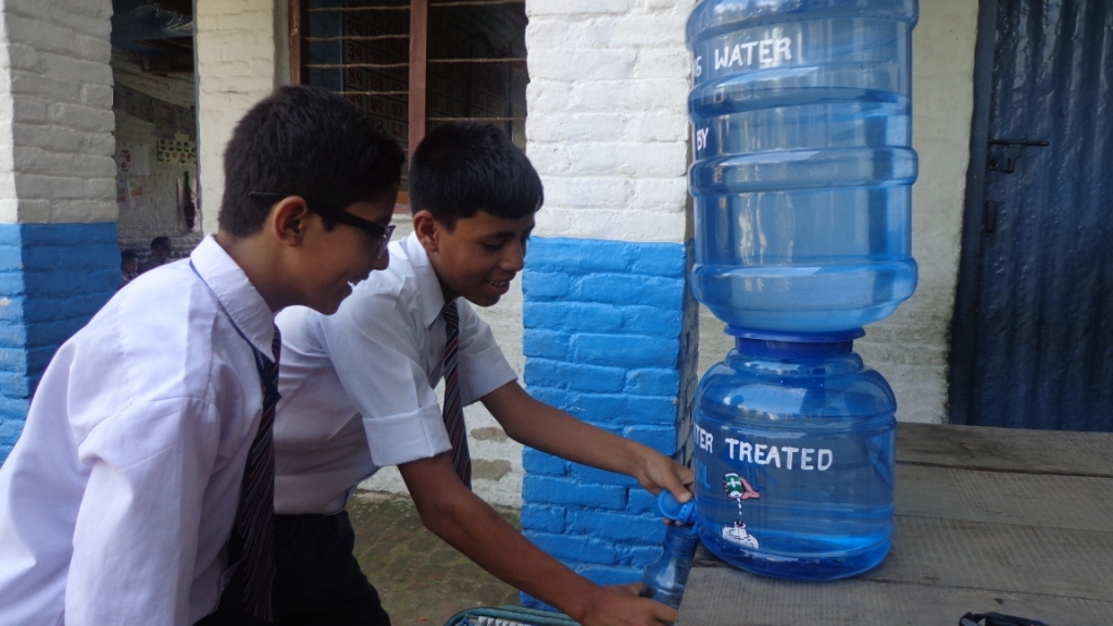 Indraprastha becomes first school in DK to introduces water bell