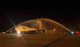 In a first for Lufthansa, its Boeing 747-8 lands in Delhi