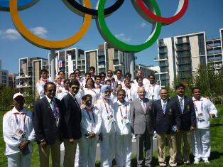 Indian flag hoisted at Olympic Village